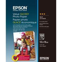 Epson Value Glossy Photo Paper, foto papír, lesklý, bílý, 10x15cm, 183 g/m2, 100 ks