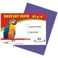 Barevný papír A4, 80g, fialový, 100 listů