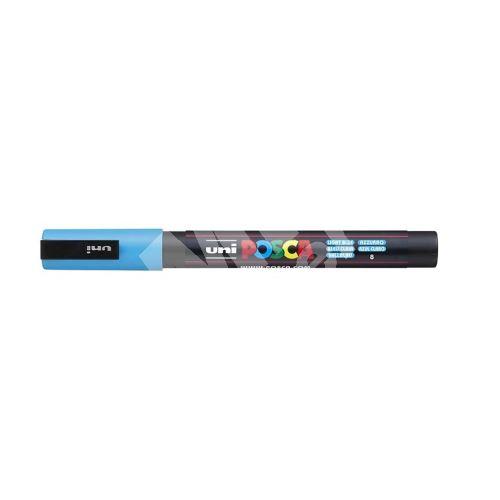 Uni Posca PC-3M akrylový popisovač, 0,9-1,3 mm, sv. modrý 1