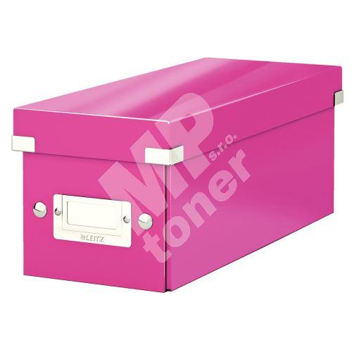 Archivační krabice na CD Leitz Click-N-Store WOW, růžová 1