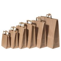 Papírová taška s plochým uchem, 280x170x270mm, hnědá