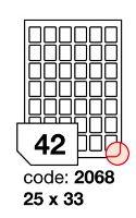 Samolepící etikety Rayfilm Office 25x33 mm 300 archů, inkjet, R0105.2068D