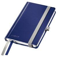 Zápisník A6 Leitz STYLE, čtverečkovaný, titanově modrý