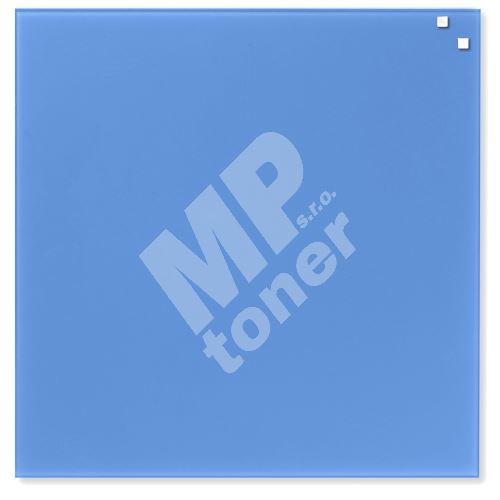 Skleněná magnetická tabule Naga 45 x 45 cm, kobaltově modrá 1