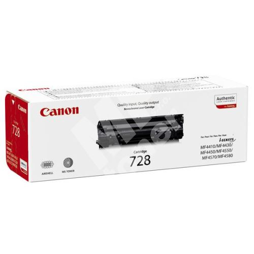 Toner Canon CRG-728, black, 3500B002, originál 1