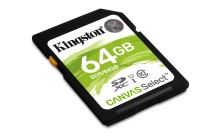64GB Kingston SDXC Canvas Select CL10 UHS-I 80R