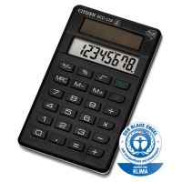 Kalkulačka Citizen ECC110, černá, stolní, osmimístná