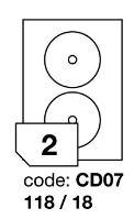 Samolepící etikety Rayfilm Office průměr 118/18 mm 300 archů R0103.CD07D