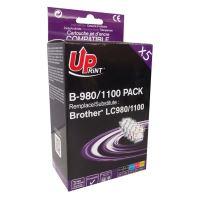 Kompatibilní cartridge Brother LC-980/LC-1100, DCP-145C / DCP-165C, 2xBK CMY, UPrint