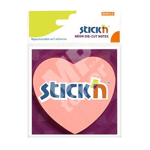 Samolepící bloček Stick n srdce pastelově růžové, 70 x 70 mm 5