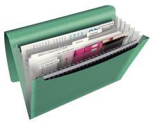 Aktovka na spisy Esselte Colour Ice, zelená, A4, PP, 6 přihrádek 2