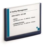 Informační tabulka Durable Click Sign, 148,5x210 mm, modrá