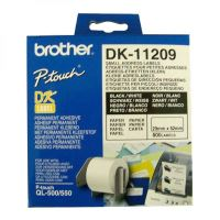 Papírové štítky Brother DK11209, 29mm x 62mm, bílá, 800 ks, pro tiskárny řady QL