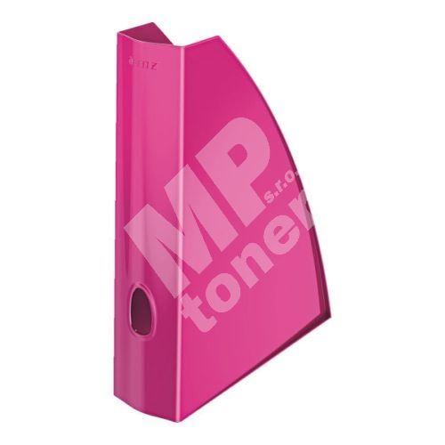 Stojan na časopisy Leitz WOW, metalický růžový 1