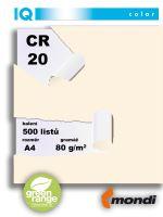 Barevný papír IQ CR 20 A4 80g pastelová chamois 1bal/500ks 2