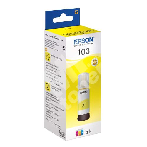Cartridge Epson C13T00S44A, yellow, 103, originál 1