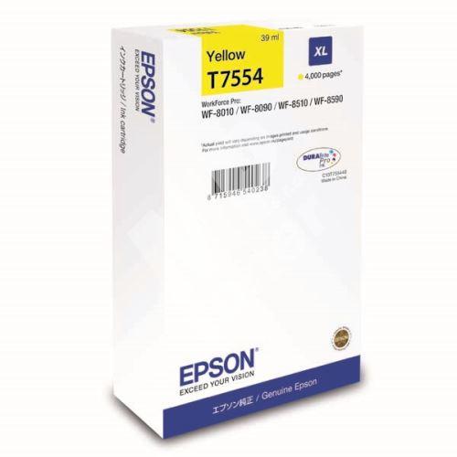 Cartridge Epson C13T755440, yellow, XL, originál 1