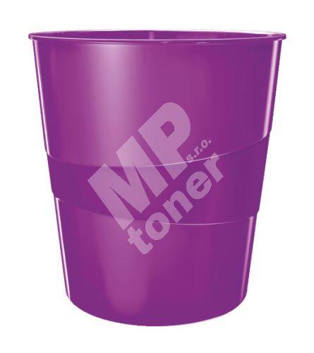 Odpadkový koš Leitz WOW, purpurový 1