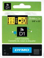 Páska Dymo D1 9 mm x 7m, černý tisk/žlutý podklad, 40918 S0720730