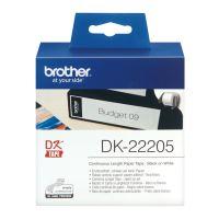 Papírová role Brother DK22205, 62 mm x 30,48 m, bílá, odolná, 1ks