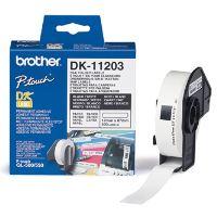 Papírové štítky Brother DK11203, 17mm x 87mm, bílá, 300 ks, pro tiskárny řady QL