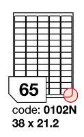 Samolepící etikety Rayfilm Office 38x21,2 mm 300 archů, inkjet, R0105.0102ND