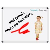 Bílá magnetická tabule 240 x 120 cm Vision Board 1