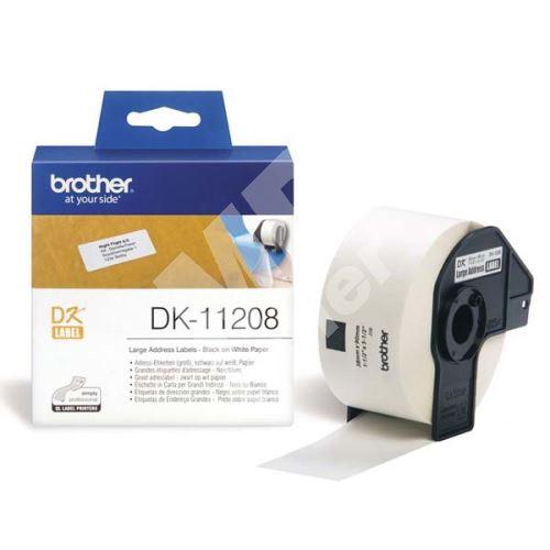 Štítky papírové Brother 38mm x 90mm, bílá, 400 ks, DK11208 1