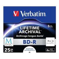 Verbatim 25GB BD-R M-DISC, Single layer/Injekt printable, jewel, 43823, 4x, 5-pack 2