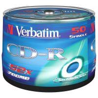Verbatim CD-R, DataLife, 700 MB, Extra Protection, cake box, 43351, 52x, 50-pack