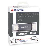 16GB Verbatim iStore'n'Go Lightning, USB flash disk 3.0, 49304, OTG, černá