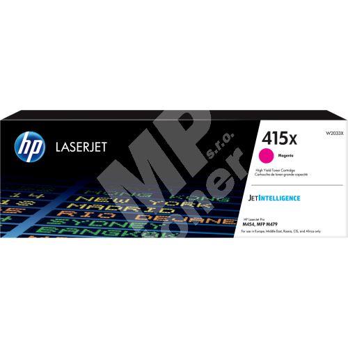Toner HP W2033X, magenta, 415X, originál 1