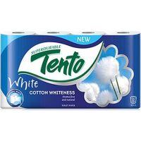 Tento Cotton Whiteness toaletní papír bílý 2 vrstvý 156 útržků 8 kusů