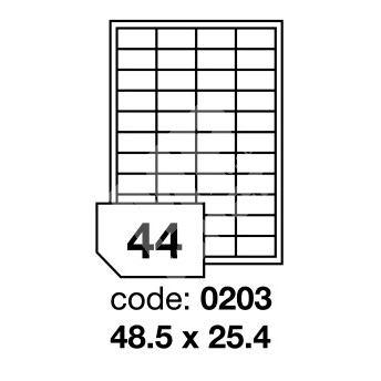 Samolepící etikety Rayfilm Office 48,5x25,4 mm 100 archů R0100.0203A 1