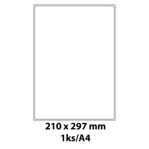 Print etikety Emy 210x297 mm, 1ks/arch, 100 archů, samolepící