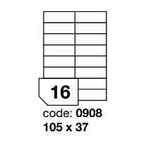 Samolepící etikety Rayfilm Office 105x37 mm 100 archů R0100.0908A