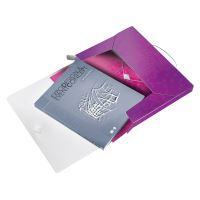 Desky s gumičkou Wow Jumbo, purpurová, 30 mm, PP, A4, LEITZ 5