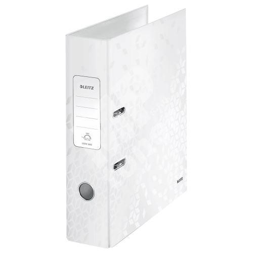 Pákový pořadač 180 Wow, bílá, lesklý, 80 mm, A4, PP/karton, LEITZ 1