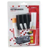 Čisticí sada, na klávesnice, spray 50ml, 5 ubrousků, 3 aplikátory, houbička, LOGO