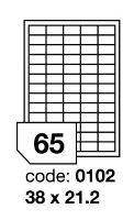 Samolepící etikety Rayfilm Office 38x21,2 mm 300 archů, inkjet, R0105.0102D