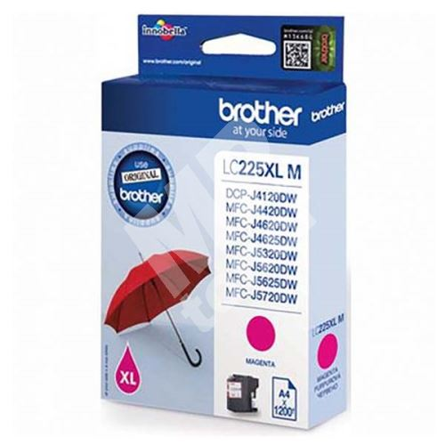 Inkoustová cartridge Brother LC-225XLM, MFC-J4420DW, MFC-J4620DW, magenta, originál