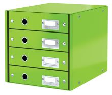 Zásuvkový box Click & Store, zelená, 4 zásuvky, laminovaný karton, LEITZ 2