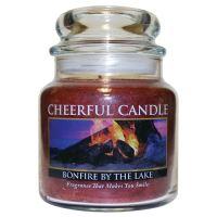 Cheerful Candle Vonná svíčka ve skle Léto u Jezera - Bonfire By the Lake, 16oz