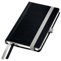 Zápisník A6 Leitz STYLE, linkovaný, saténově černý
