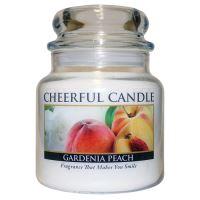 Cheerful Candle Vonná svíčka ve skle Gardénie a Broskev - Gardenia Peach, 16oz