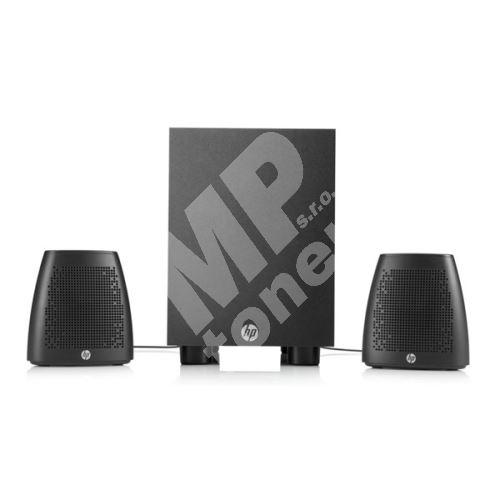 Reproduktory HP Speaker System 400, 2.1, 8W, ovládání hlasitosti, černé