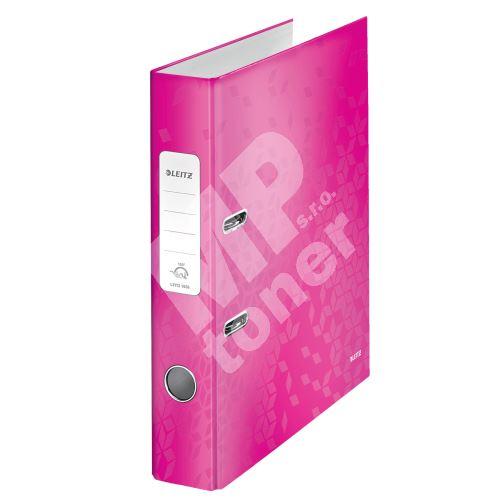 Pákový pořadač 180 Wow, růžová, 52 mm, A4, PP/karton, LEITZ 1