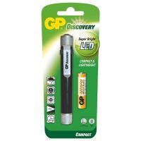 LED svítilna GP, kovová/hliníková, 1xAAA baterie GP Ultra, černo-stříbrná