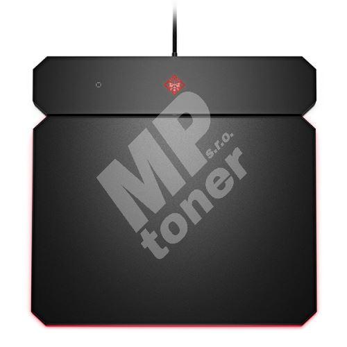 Podložka pod myš HP OMEN by HP Outpost nabíjecí Qi, herní, černá, 346x344 mm, 10.5 mm 1