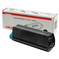 Toner OKI 42127408, C5100 5200 5300 5400 typ C6 černý originál